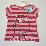 Детская футболка Next на девочку 6-9 9-12 мес.,1-1,5 1,5-2 года, рост 74,80,86,92