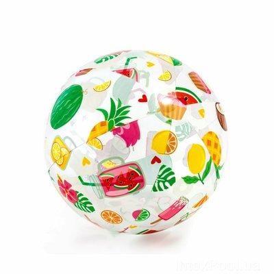 Мяч 51см надувной пляжный Intex 59040 фрукты