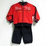 Спортивный хлопковый костюм на флисе Польша р.74, 80