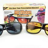 Очки антибликовые для водителей HD Vision 2шт желтые черные