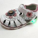 Детские светящиеся босоножки сандалии с led подсветкой для девочки 24р. - 26р. 4104