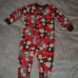 Флисовый слип пижама человечек Carter's 18 мес рост 86 Сша