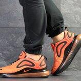 Nike Air Max 720 кроссовки мужские демисезонные оранжевые 7619