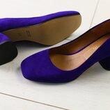 Фиолетовые туфли на каблуке 6 и 8см