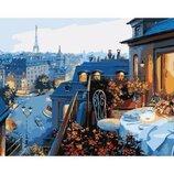 Картина по номерам. Городской пейзаж Вид на Париж 40х50 KHO1107