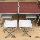 Стол раскладной 4 стула чемодан