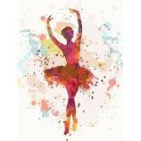 Картина по номерам. Люди Балерина 2 30 40см. KHO2672