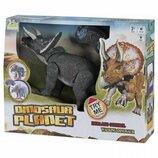 Динозавр на радиоуправлении Same Toy Dinosaur Planet Трицератопс Серый