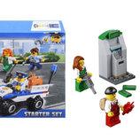 Конструктор Bela 10653 Набор для начинающих Полиция 104 детали аналог Lego City 60136