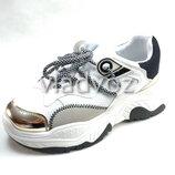 Подростковые модные кроссовки для девочки белые размеры от 36р. до 41р. 4110