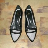 Туфли лодочки bata нат. кожа 36-37р.