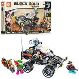 Конструктор Sembo 11677 Gold Block Джип Аналог Лего Lego 284 детали