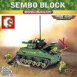 Конструктор Sembo SD101304 АналогLego Танк Sherman M4 437 деталей