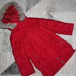 Легкая красная куртка Next на 3-4 года рост 104 см