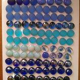 марблс синего . голубого цвета-оттенки