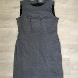 Элегантное серое платье с подкладкой Mariella