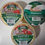 Польша Очень вкусный паштет на выбор один с курицы или с курицы и помидорами130 грамм