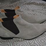новые деми сезонные ботинки Zu 28 см 43-44 размер кожа Австралия