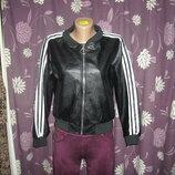 Куртка женская бомбер кожзам в наличии новая m l xl