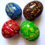 Яйцо деревянное пасхальное расписное
