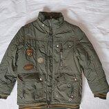 Теплая зимняя куртка на мальчика 8-10 лет,на 134-140 рост ,Kiko