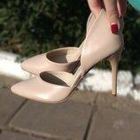 Туфли из натуральной кожи на шпильке Производитель Украина