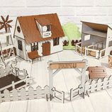 Крашеный Кукольный Домик Для LOL Сельский Домик С Фермой, Мебелью И Светом