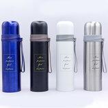 Бутылка для воды термос стальной Metallic 8078 4 цвета, объем 500мл