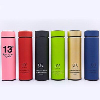 Бутылка для воды термос стальной Life 013 6 цветов, объем 450мл