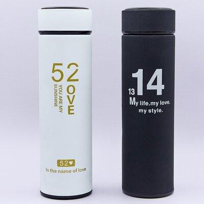 Бутылка для воды термос стальной My Love 014 2 цвета, объем 450мл
