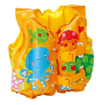 Детский надувной жилет 3-5лет 59661 Рыбки 41х30см intex интекс