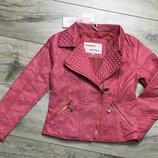 Куртка косуха для девочек из экокожи, 98-128, польша