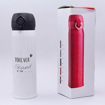 Бутылка для воды термос стальной Don't Worry 183 объем 480мл