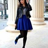 Классическая юбка полусолнце мини черная, красная и другие цвета все размеры в стиле Бохо габардин