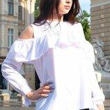 Белая блузка Диамант