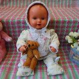 Маленькая кукла пупс Schildkröt Шильдкрет, Черепашка из целлулоида, рост 30см