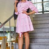 Красивое летнее платье в полоску Артикул 1135