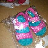 Пляжные босоножки 18,19 р, сандалии, сандалі, босоніжки, басейн, бассейн, силикон, девочку, дівчинку