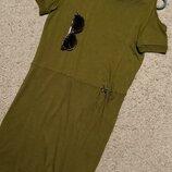 Next cтильное трикотажное платье с открытыми плечами и драпировкой