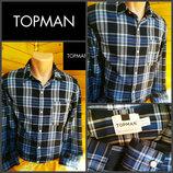 Классная стильная рубашка в крупную клетку Topman, оригинал, р.M, пр-во Турция