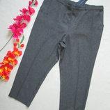 Классные укороченные брюки батал в мелкую клетку высокая посадка M&S.