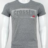 Футболка мужская Reebok CrossFit темно-серая.