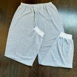 Размер L Удобные фирменные тоненькие мужские пижамные домашние штаны