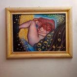 Картина Ню. авт. Donatello Mazzone 1999 г. Италия. Холст. Масло. 87 см.Х67 см.