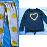 Коплект для девочки 5 лет лосины и кофточка с паетками,одежда девочке