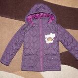 Куртка на девочку 3-5 лет,стеганая, стильная,демисезонная