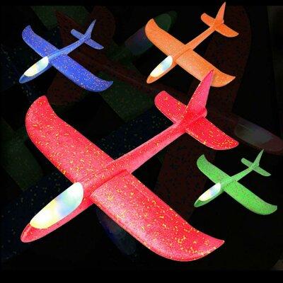 Метательный планер с подсветкой Пенолет 48см самолет самолетик з