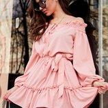 Нежное легкое платье 42 - 46 четыре расцветки