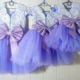 Нарядные выпускные пышные детские платья