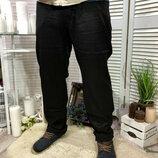 Новые черные Мужские брюки,Джинсы с отливом тонкие но крепкие, класический прямой крой р 29,30,31,